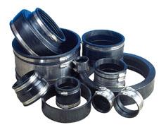 Rubber Flex aansluitingen voor op PVC
