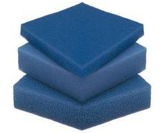 Filterschuim 50 x 50 x 5 cm blauw fijn
