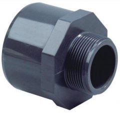 "PVC PUNTSTUK 20/25 MM X 1/2"" DRAAD"