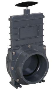 Valterra 75 mm pvc schuifafsluiter met kunststof schuif