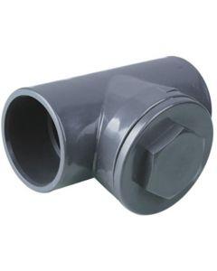 PVC terugslagklep T-Vorm 40 mm