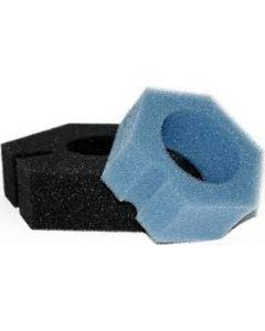 SET VERVANGSPONZEN / FILTERSCHUIM BIOPRESS 6000-10000 (2x zwart,2x blauw)