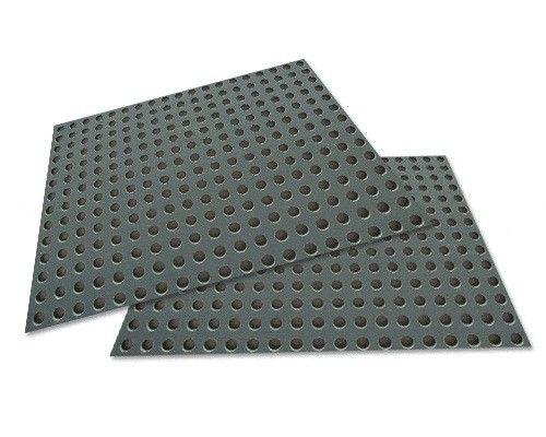 Geperforeerde Rubber Mat.Geperforeerde Kunststof Plaat 1x1 Meter Gaatjes 6 Mm