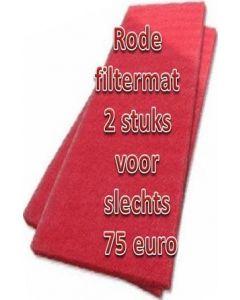 2 Stuks Magoi Rode Filtermat 2 x 1 mtr.