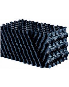Filterblok honingraat zwart 120x30x30 cm